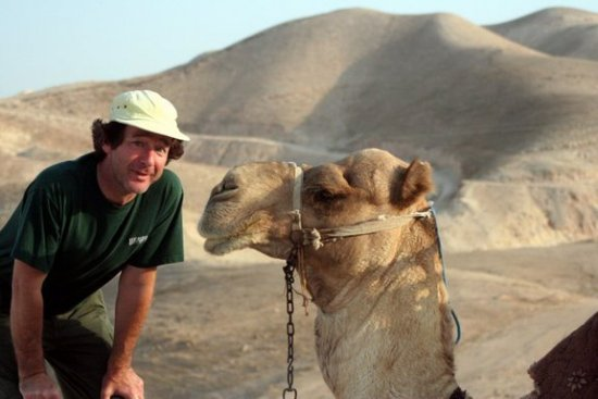 Jeffrey with a camel