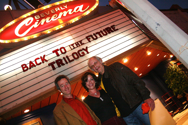 Jeffrey with Claudia Wells and Christopher Lloyd