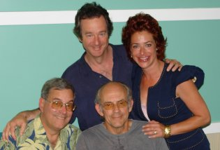 "Jeffrey Weissman with Bob Gale, Claudia Wells and Christopher Lloyd, at the ""Make A Wish Exotic Car Celebration"" fundraiser in Florida"