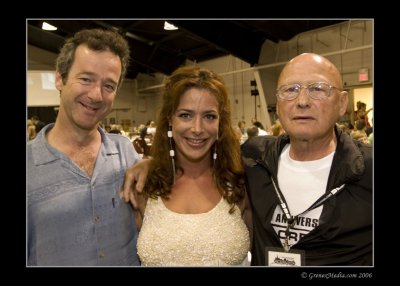 Jeffrey with Claudia Wells (Jennifer Parker) and James Tolkan (Mr. Strickland & Chief Marshal James Strickland) from the BttF film series, at the 2006 DeLorean Car Show in Chicago